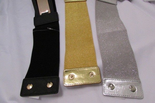 Gold Black / Gold / Silver Full Metal Gold Plate Wide Waist Chic Belt Fashion New Women Accessories Regular & Plul Size - alwaystyle4you - 38