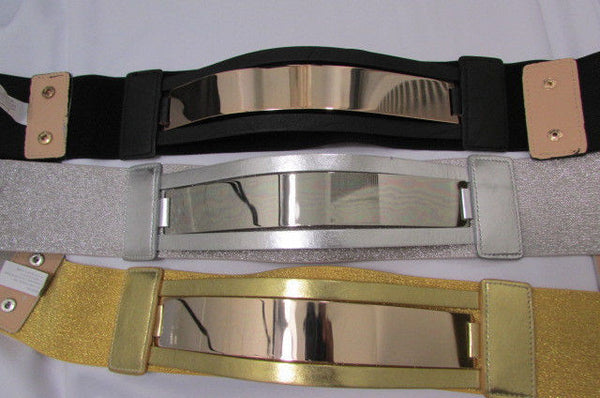 Gold Black / Gold / Silver Full Metal Gold Plate Wide Waist Chic Belt Fashion New Women Accessories Regular & Plul Size - alwaystyle4you - 39