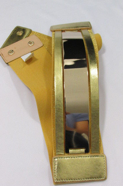 Gold Black / Gold / Silver Full Metal Gold Plate Wide Waist Chic Belt Fashion New Women Accessories Regular & Plul Size - alwaystyle4you - 41