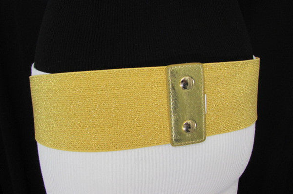 Gold Black / Gold / Silver Full Metal Gold Plate Wide Waist Chic Belt Fashion New Women Accessories Regular & Plul Size - alwaystyle4you - 47