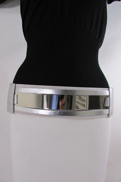 Gold Black / Gold / Silver Full Metal Gold Plate Wide Waist Chic Belt Fashion New Women Accessories Regular & Plul Size - alwaystyle4you - 11