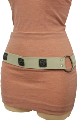 Silver Ethnic Charms Hip High Waist Tie Belt Genuine Suede Leather New Women Fashion Accessories M L - alwaystyle4you - 1