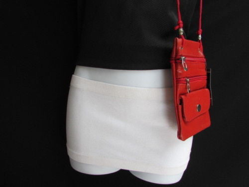 Hot Red Traveling Small Bag Wallet Genuine Leather Crossbody Handbag New Women Fashion