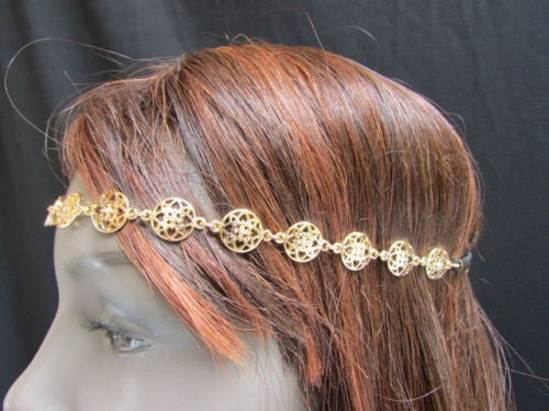 Gold Head Band Elastic Black Strap Multi Stars New Women Elegant Fashion Wedding Accessories