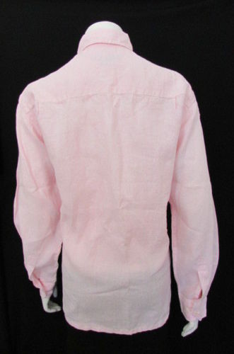 Pink Linen Button Down Taboo Basic One Shirt Classic Fashion Blouse New  Women Size Medium