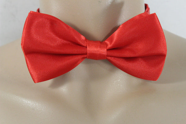 Red Black Gray Brown Neck Bow Tie Fabric Tuxedo Costume Men Women Teens And Kids Accessories