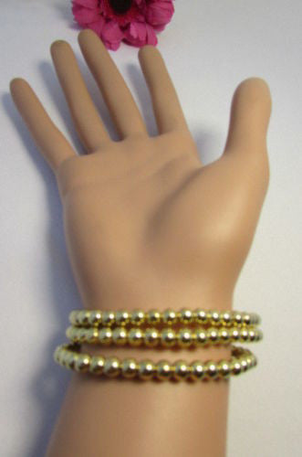 Gold Metal Chains Beads Bracelet Rhinestones Gingerbread Man New Women Fashion Jewelry Accessories - alwaystyle4you - 11