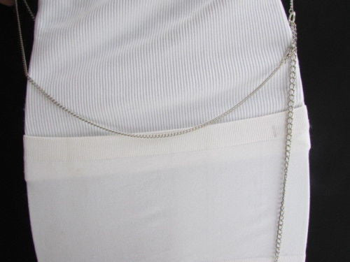 Silver Body Chain Double Chain Dressy Belt Holiday Vest Long Necklace New Women Accessories