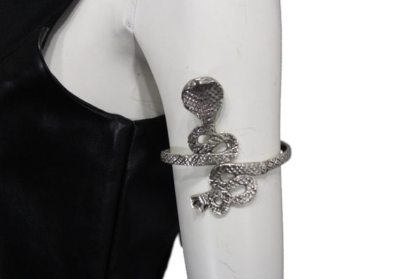 Silver Metal Long Tael Snake Bangle Upper Arm Cuff Bracelet New Women Fashion Jewelry Accessories