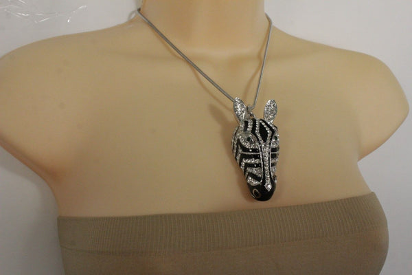 Silver Metal Short Necklace African Safari  New Women Fashion Jewelry Accessories