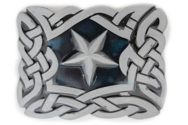 Silver Metal Texas Lone Large Star Belt Buckle Men Women Cowboys Fashion Accessories