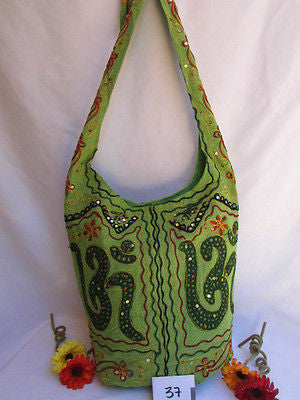 New Women Cross Body Fabric Fashion Messenger Hand India Sign Green Orange Brown - alwaystyle4you - 7