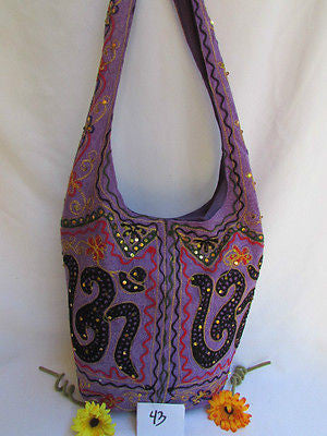 New Women Cross Body Fabric Fashion Messenger Hand India Peace Sign Purple - alwaystyle4you - 12