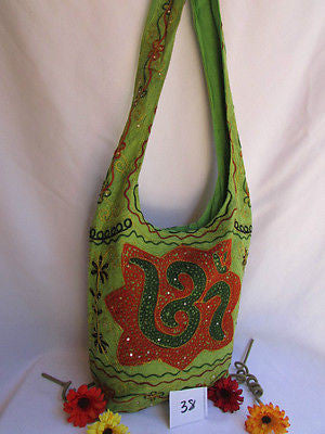 New Women Cross Body Fabric Fashion Messenger Hand India Sign Green Orange Brown - alwaystyle4you - 45