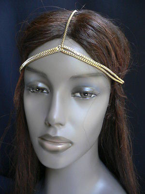New Women Classic Gold Head Body Thin Chain Fashion Jewelry Grecian Circlet - alwaystyle4you - 9