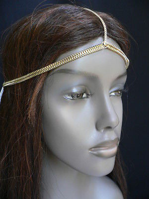 New Women Classic Gold Head Body Thin Chain Fashion Jewelry Grecian Circlet - alwaystyle4you - 3