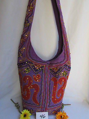 New Women Cross Body Fabric Fashion Messenger Hand India Peace Sign Purple - alwaystyle4you - 48