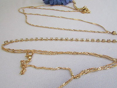 New Women Gold Belt Body Chain Long Necklace White Rhinestnestrand Metal Chains - alwaystyle4you - 10