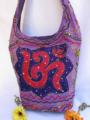 New Women Cross Body Fabric Fashion Messenger Hand India Peace Sign Purple - alwaystyle4you - 17