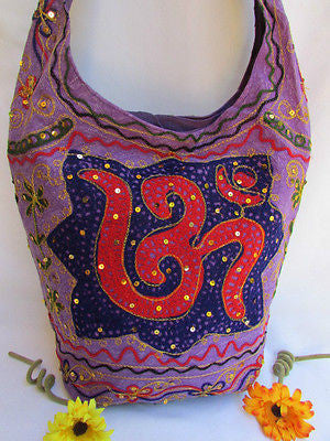 New Women Cross Body Fabric Fashion Messenger Hand India Peace Sign Purple - alwaystyle4you - 13