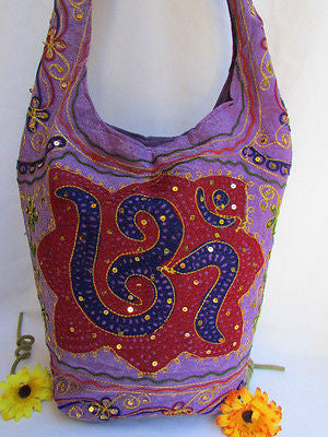 New Women Cross Body Fabric Fashion Messenger Hand India Peace Sign Purple - alwaystyle4you - 49
