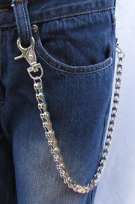 "Silver Metal Extra Long Wallet Chains Key Chain Motorcycle Biker Rocker 20"" New Men Style - alwaystyle4you - 1"