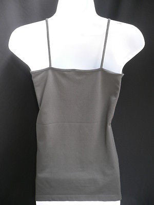 New Women Charcoal Basic Tank Top Sexy Camisole Spaghetti Straps Plus Size Medium Large - alwaystyle4you - 5