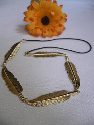 New Women Big Gold Metal Leaf Head Chain Band Fashion Jewelry Grecian Headband - alwaystyle4you - 3