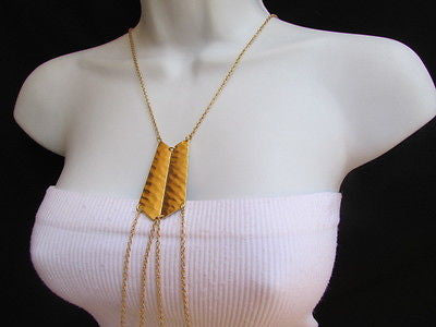 Women La Gold Double Metal Plate Classic Chic Body Chain Jewelry Long Necklace - alwaystyle4you - 7