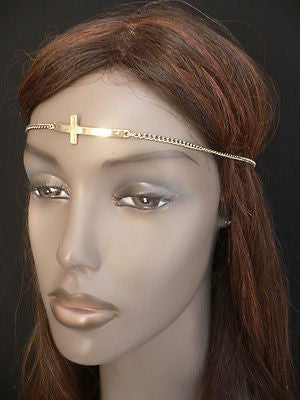 Latest Women Silver Metal Cross Head Band Chain Celebrity Circlet Sexy Jewelry - alwaystyle4you - 8