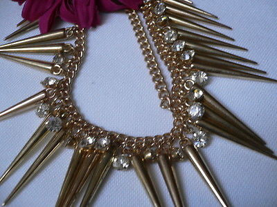 New Women Gold Head Chain Spikes Fashion Jewelry Rhinestones Circlet Headband - alwaystyle4you - 5