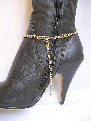 Gold / Silver Boot Big Star Multi Trendy Chain Silver Rhinestones Western Style - alwaystyle4you - 11