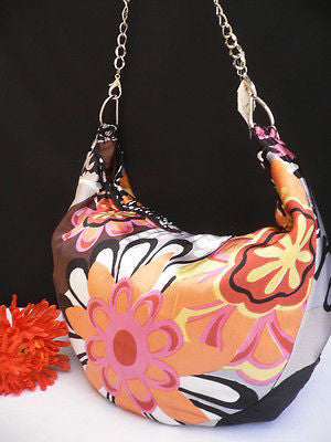 New Women Spring Summer Flowers Beach Bag Pink Orange Red Handbag Handmade - alwaystyle4you - 9