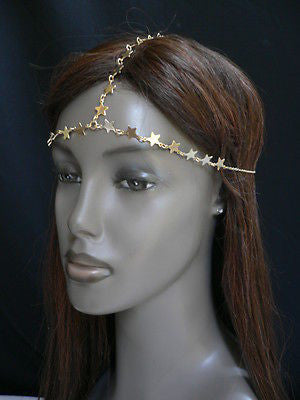 Women Gold Trendy Multi Stars Head Chain Grecian Circlet Fashion Jewelry - alwaystyle4you - 4