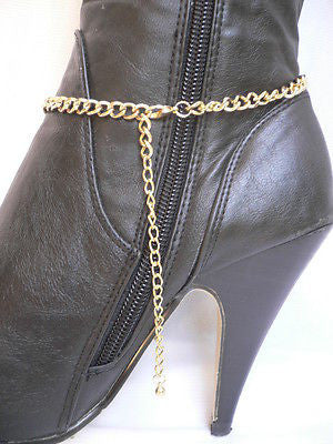 Gold / Silver Boot Big Star Multi Trendy Chain Silver Rhinestones Western Style - alwaystyle4you - 10