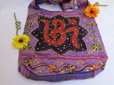 New Women Cross Body Fabric Fashion Messenger Hand India Peace Sign Purple - alwaystyle4you - 33
