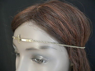 Latest Women Silver Metal Cross Head Band Chain Celebrity Circlet Sexy Jewelry - alwaystyle4you - 9