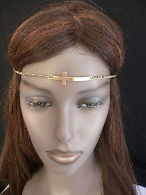 Latest Women Silver Metal Cross Head Band Chain Celebrity Circlet Sexy Jewelry - alwaystyle4you - 6