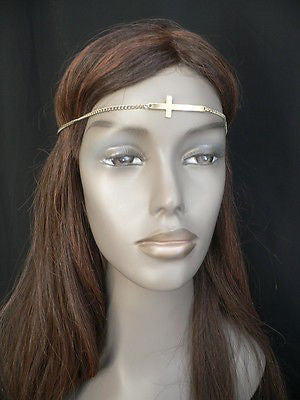 Latest Women Silver Metal Cross Head Band Chain Celebrity Circlet Sexy Jewelry - alwaystyle4you - 1
