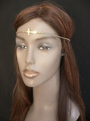 Latest Women Silver Metal Cross Head Band Chain Celebrity Circlet Sexy Jewelry - alwaystyle4you - 3