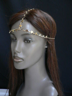 Women Gold Trendy Multi Stars Head Chain Grecian Circlet Fashion Jewelry - alwaystyle4you - 1