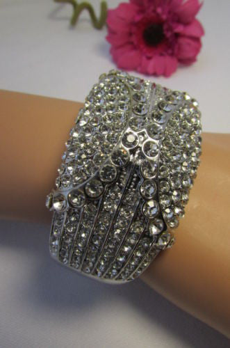 Gold / Silver Metal Retro Bracelet Cuff Multi Rhinestones New Women Fashion Jewelry Accessories - alwaystyle4you - 17