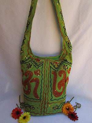 New Women Cross Body Fabric Fashion Messenger Hand India Sign Green Orange Brown - alwaystyle4you - 12