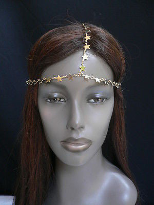 Women Gold Trendy Multi Stars Head Chain Grecian Circlet Fashion Jewelry - alwaystyle4you - 10