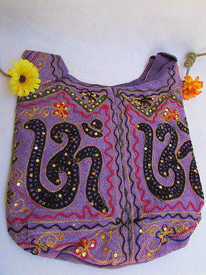 New Women Cross Body Fabric Fashion Messenger Hand India Peace Sign Purple - alwaystyle4you - 19