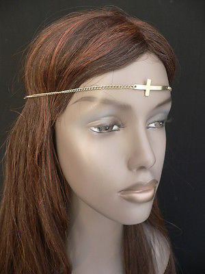 Latest Women Silver Metal Cross Head Band Chain Celebrity Circlet Sexy Jewelry - alwaystyle4you - 10