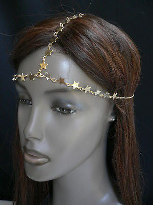 Women Gold Trendy Multi Stars Head Chain Grecian Circlet Fashion Jewelry - alwaystyle4you - 11