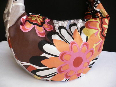 New Women Spring Summer Flowers Beach Bag Pink Orange Red Handbag Handmade - alwaystyle4you - 12