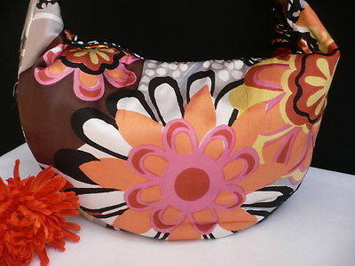 New Women Spring Summer Flowers Beach Bag Pink Orange Red Handbag Handmade - alwaystyle4you - 3