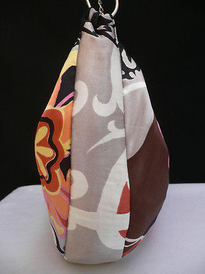 New Women Spring Summer Flowers Beach Bag Pink Orange Red Handbag Handmade - alwaystyle4you - 10